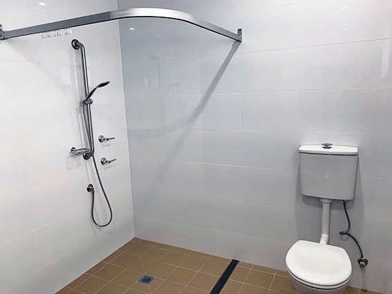 Matthew House Fully Accessible Bathroom Shower Toilet
