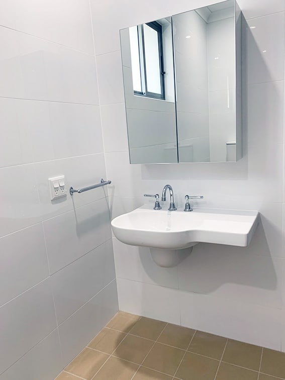 Matthew House Fully Accessible Bathroom Sink and Cabinet